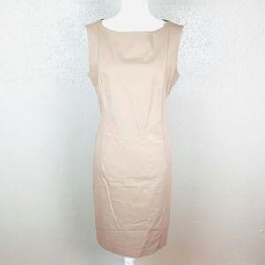 Lafayette 148 High Neck Sleeveless Sheath Dress 8